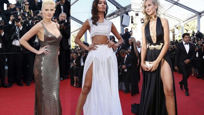 Modelki na czerwonym dywanie w Cannes!