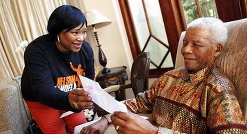 Zindzi with the late Nelson Mandela