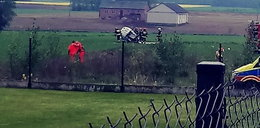 Awaryjne lądowanie śmigłowca. Dwie osoby w szpitalu