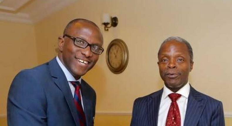 Vice President Yemi Osinbajo and his spokesperson, Laolu Akande.