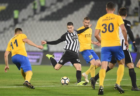 Detalj s meča Partizan - Dinamo 6:0