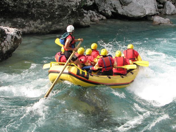 Rafting na rzece Kopru