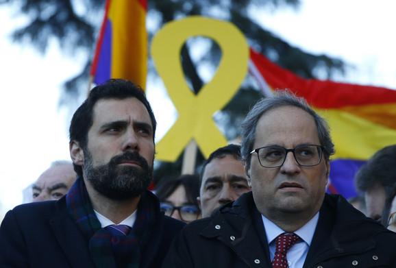 Rodžer Torent, predsednik parlamenta Katalonije i Kvim Tora, lider Katalonije