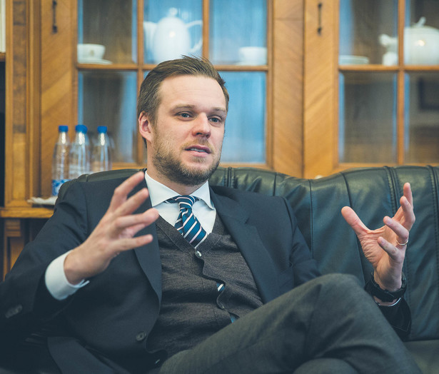 Gabrielius Landsbergis, od grudnia 2020 r. minister spraw zagranicznych Litwy, lider współrządzącego Związku Ojczyzny – Litewskich Chrześcijańskich Demokratów
