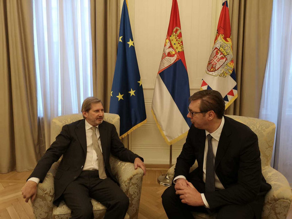 Johanes Han i Aleksandar Vučić danas u Predsedništvu