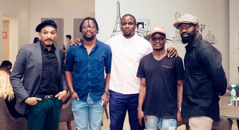 Shawn Faqua (Actor), Idhebor Kagho (Cinematographer), Udoka Oyeka (Actor, Director, Producer), Brymo (Musician, Actor) Brutus Richard (Actor) [Udoka Oyeka]