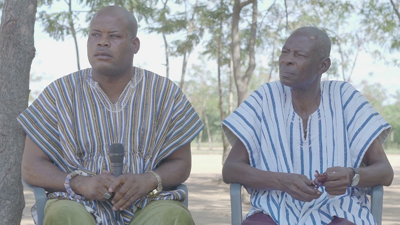 Kwame Tsiditse Gbenua and Charles Gbenua, elders and stool fathers of Dove, the Ghanaian village where childbirth is a superstitious crime