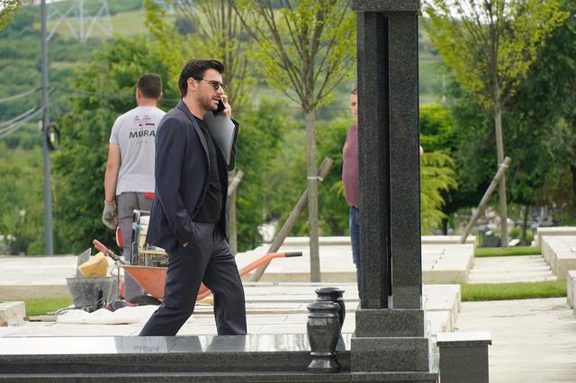 Igor Đorđević na sahrani doktorke