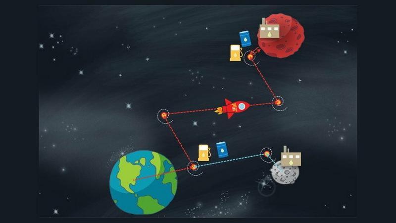 Kosmiczne stacje benzynowe ułatwią podróż na Marsa
