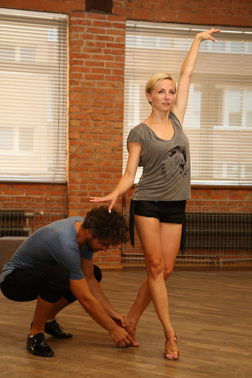 Anna Wyszkoni i Jan Kliment na treningu