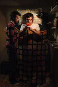 "Kadr z serialu ""The Flight of the Conchords"""