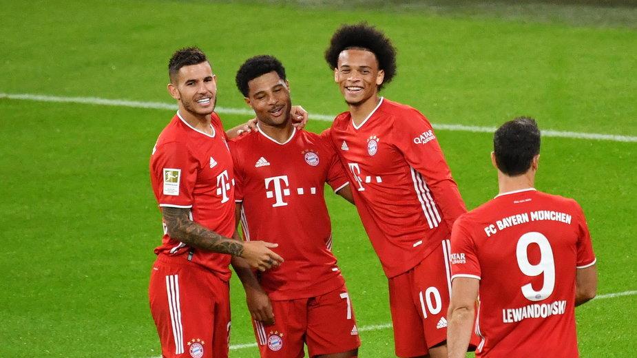 Od lewej: Lucas Hernandez, Serge Gnabry, Leroy Sane, Robert Lewandowski