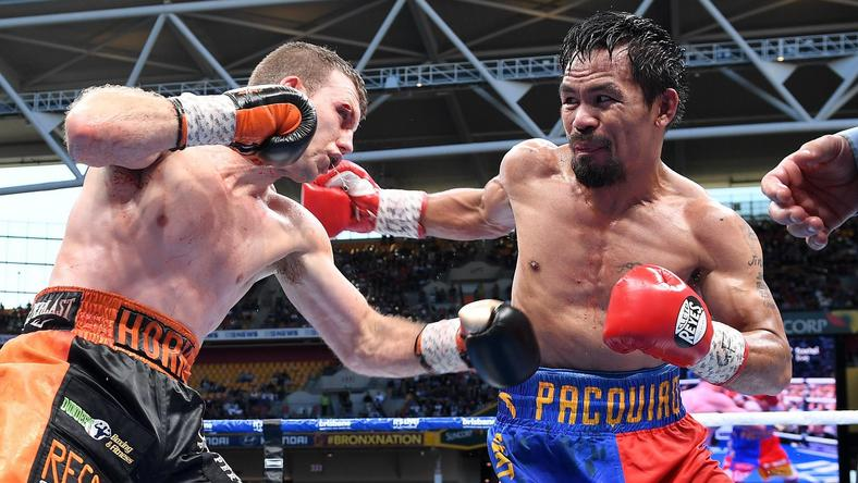 Pacquiao - Horn boxing match