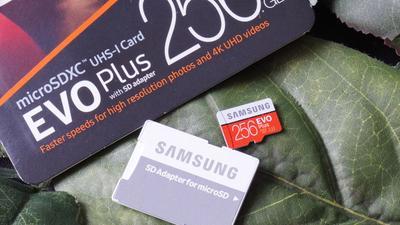 Samsung Micro-SDXC EVO Plus mit 256 GByte im Test