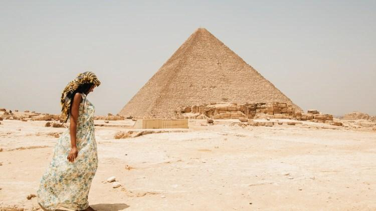 Amarachi Ekekwe at the Pyramids of Giza [Travel with a Pen]