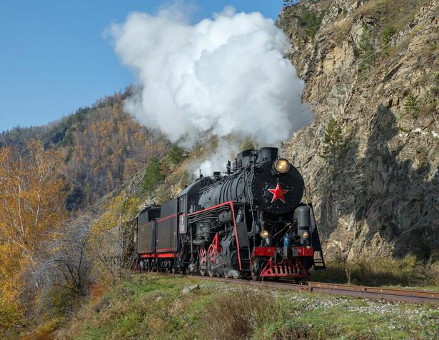 Kolej transsyberyjska. Stary pociąg rosyjski