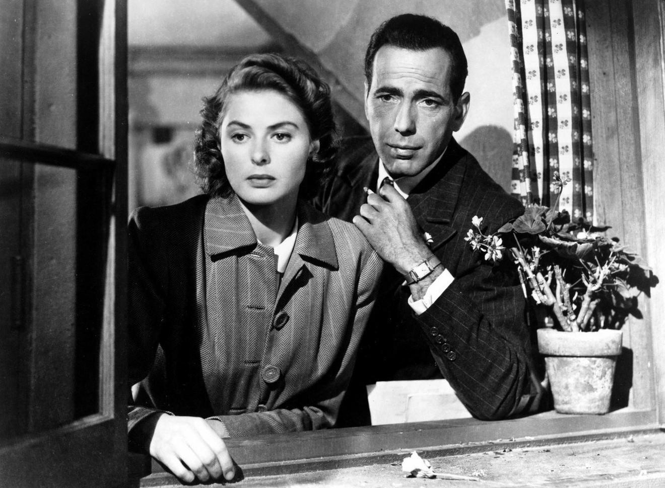 "Ingrid i Hamfri Bogart  u filmu ""Kazablanka"""