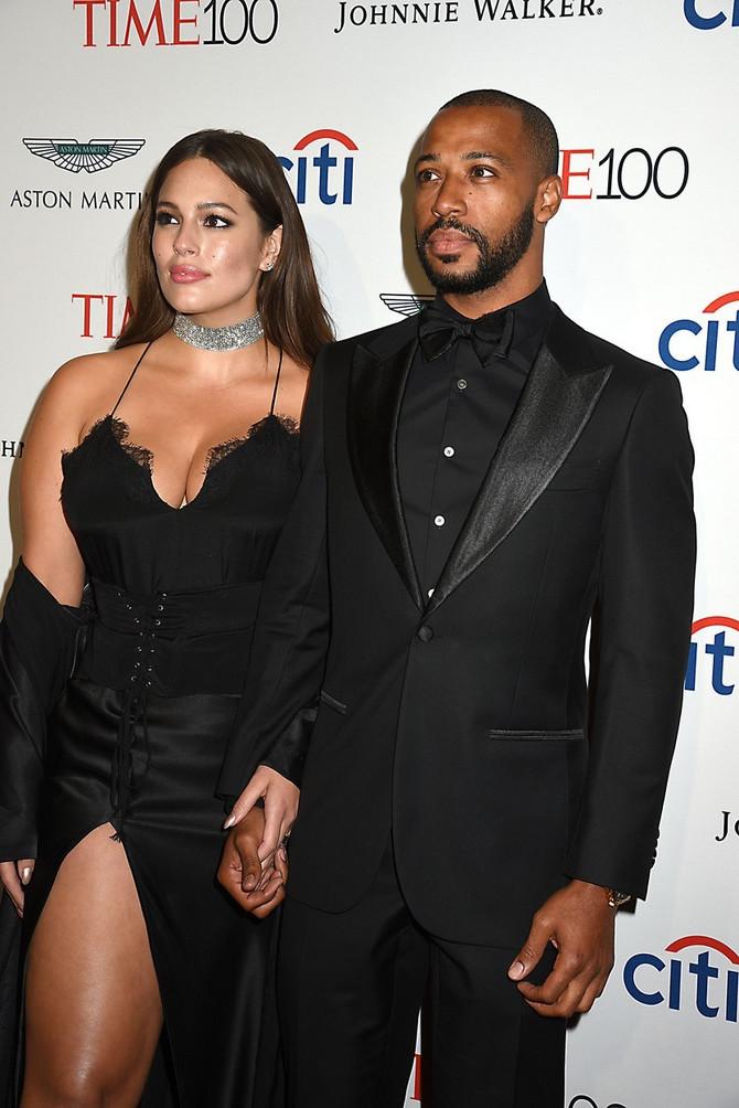 """Ešli Grejem i Džastin Ervin nedavno na svečanosti magazina """"Tajm"""" u Njujorku: manekenka se našla na listi 100 najuticajnijih svetskih ličnosti"""
