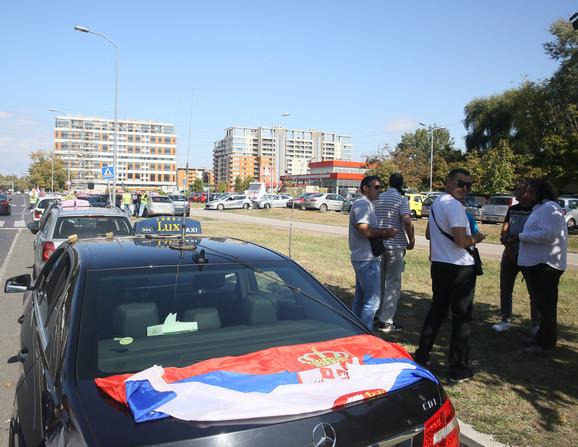 Okupljanje na Novom Beogradu