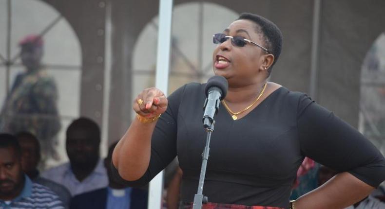 Malindi MP Aisha Jumwa during a past public address (Twitter)