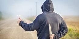 Autostopowicz zaatakował kierowcę! Ranił go nożem