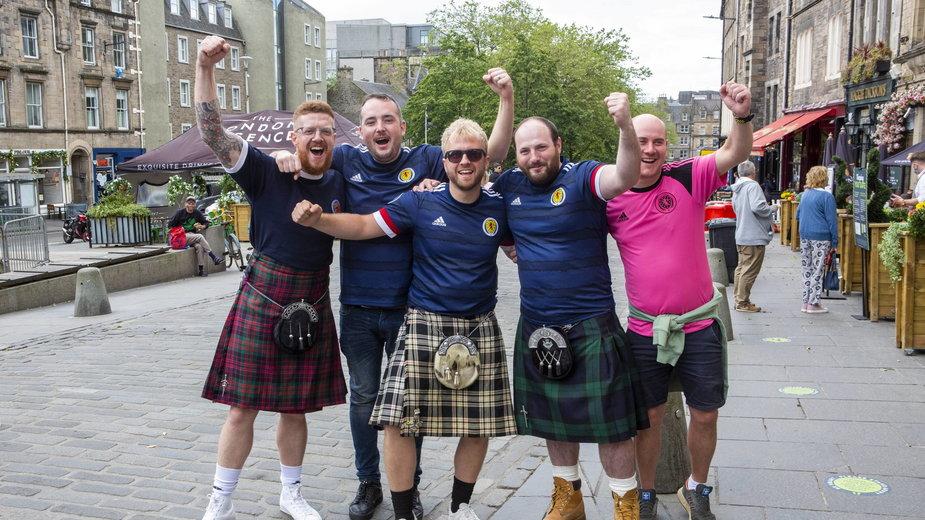 Kibice reprezentacji Szkocji