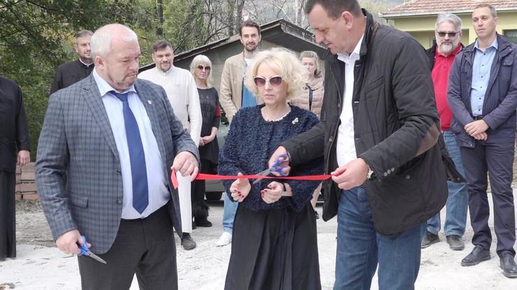 Ivanjica -Presecanje vrpce za izgradnju rusko-srpskog doma