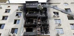 Pożar trawił kilka pięter. Jedna osoba nie żyje. Przerażające nagrania