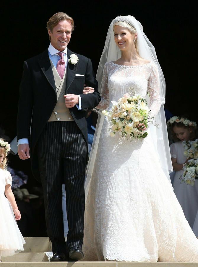 Lejdi Gabrijela sa novopečenim suprugom Tomasom