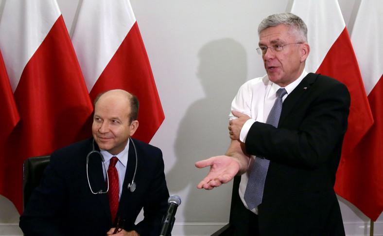 Minister zdrowia Konstanty Radziwiłł zaszczepił marszałka Senatu Stanisława Karczewskiego