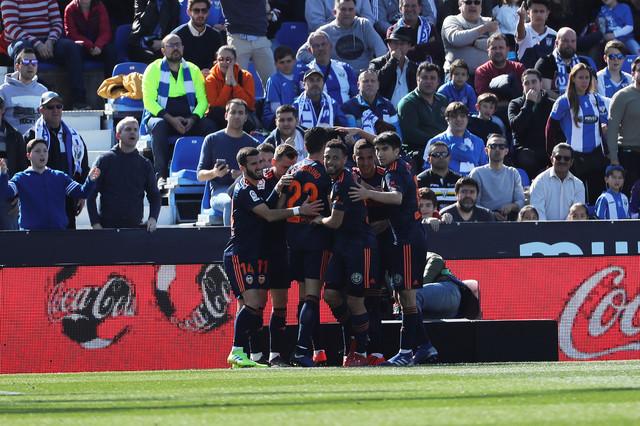 Radost igrača Valensije nakon vodećeg pogotka