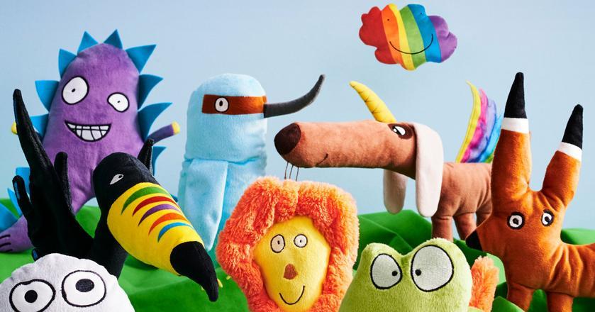 Kolekcja Ikei składa się z 10 pluszaków zaprojektowanych przez dzieci z całego świata