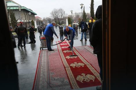Pripreme pred posetu Lavrova i srpske delegacije