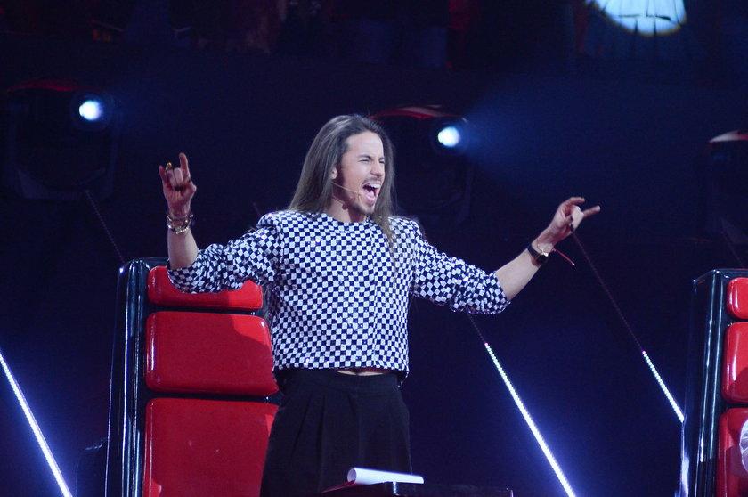 "Michał Szpak na planie ""The Voice of Poland"""