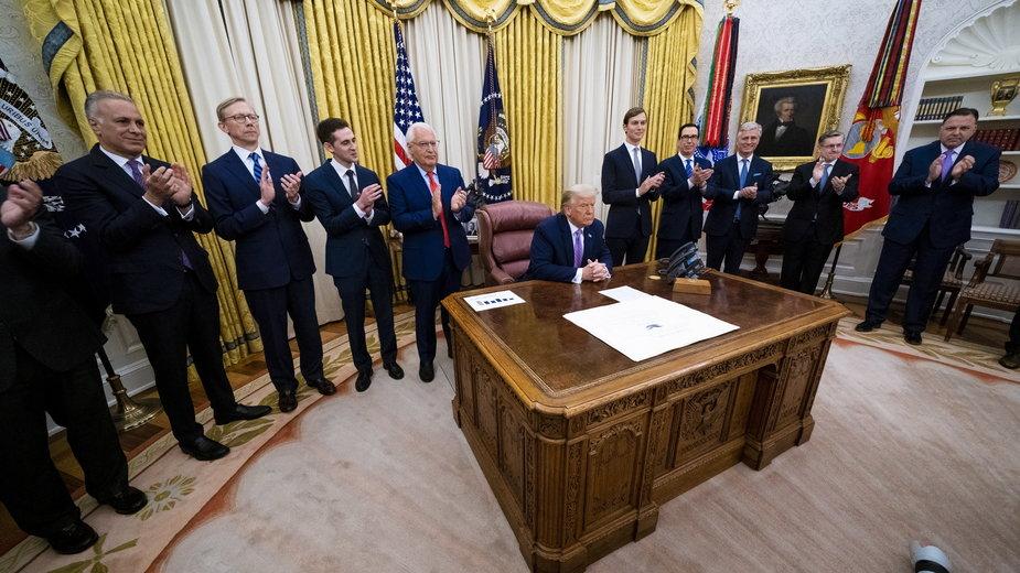Prezydent Donald Trump ogłasza historyczne porozumienie