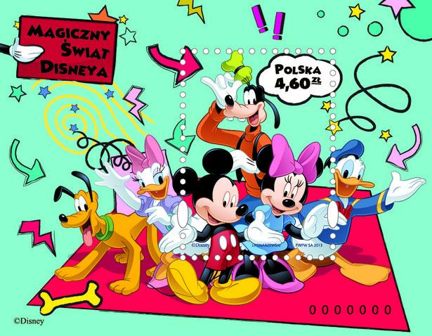 """Znaczek z nowej serii """"Magiczny świat Disneya"""", zaprojektowany został przez artystę plastyka Jacka Konarzewskiego."""