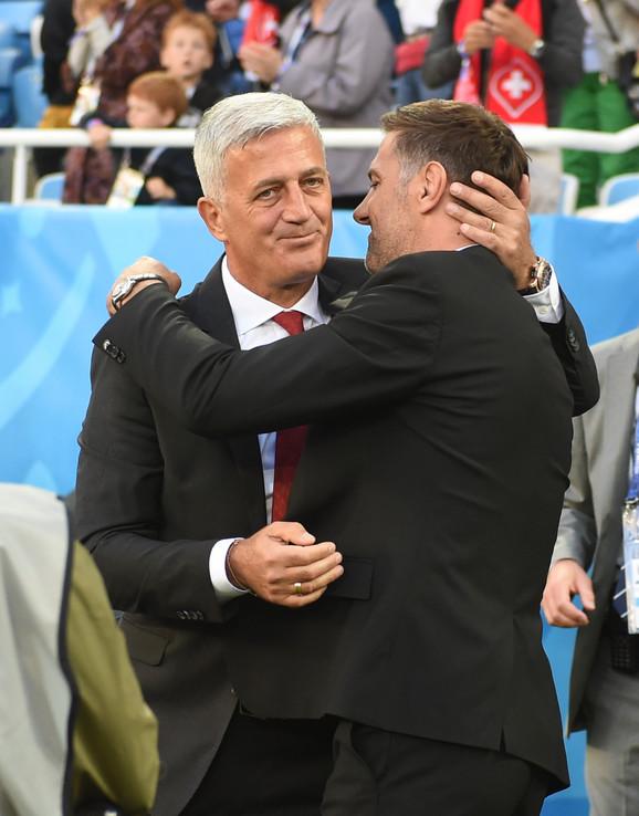 Vladimir Petković i Mladen Krstajić pred meč Srbija - Švajcarska na Svetskom prvenstvu