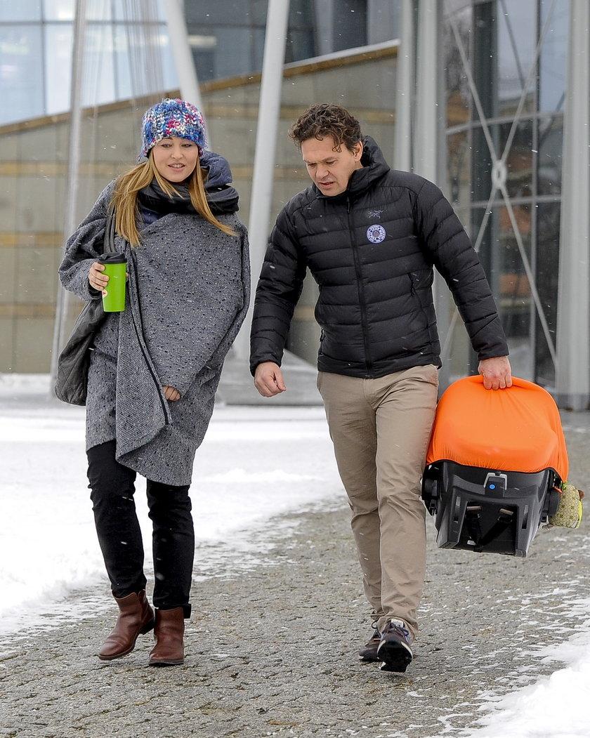 Beata Sadowska z mężem