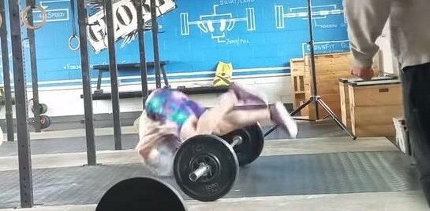 Straszny wypadek na siłowni. Dobrze, że przeżył