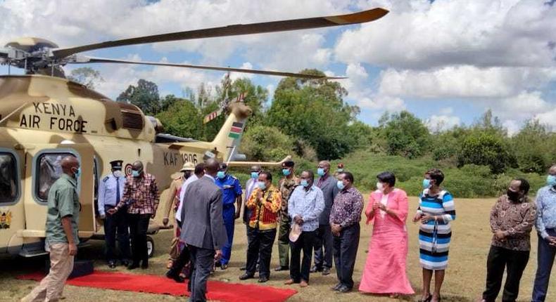 Uhuru arrives at Sagana ahead of Saturday's meeting
