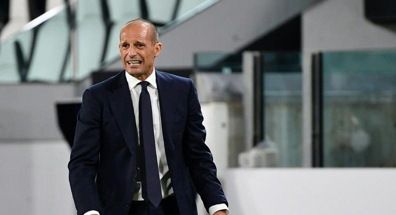 Juventus coach Massimiliano Allegri is still waiting for his first win since returning to the club Creator: Isabella BONOTTO