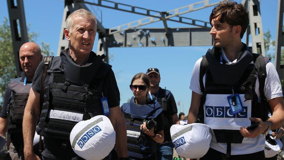 Obserwatorzy OBWE na linii frontu w Donbasie (czerwiec 2019 r.)
