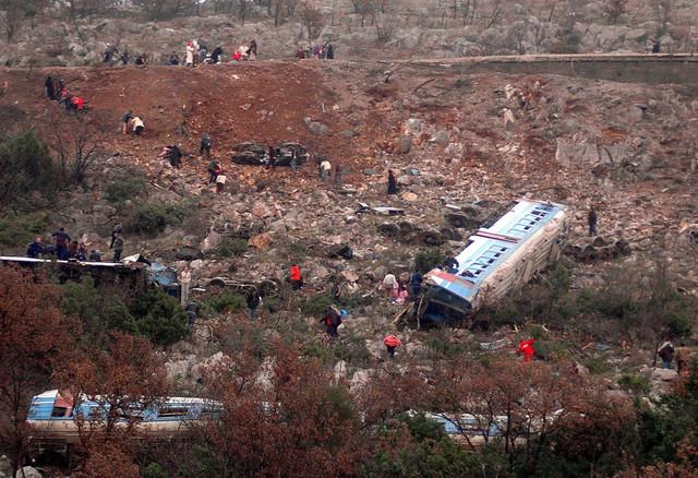 Poginulo je  47 lica, a njih preko 200 je povređeno