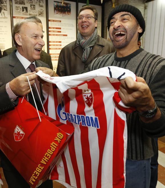 Šeika je dočekao predsednik Crvene zvezde Dragan Džajić