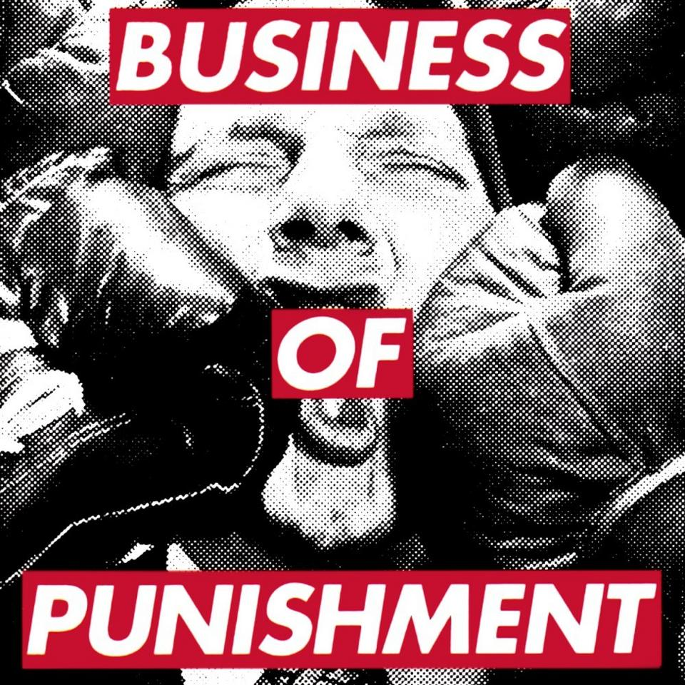 "Barbara Kruger dla Consolidated. Album ""Business of Punishment"""