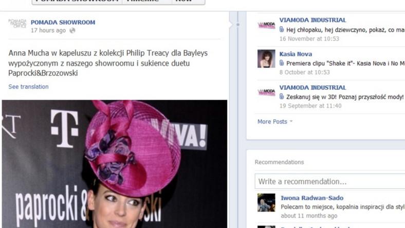 Z wpisu dowiadujemy się, że aktorka wypożyczyła kapelusz, który zrobił furorę