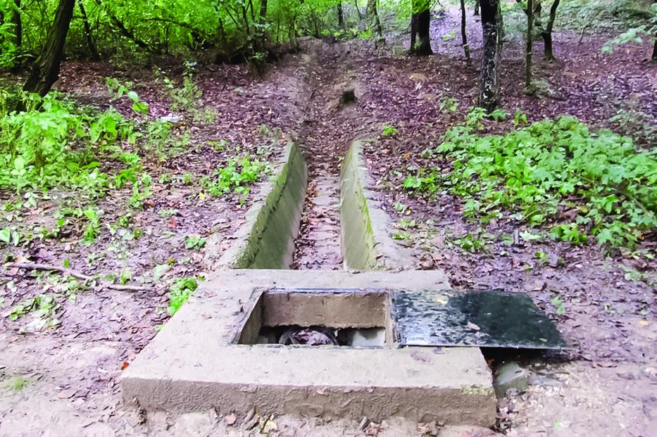 Csengét ebbe a vízaknába dobták /Fotó: Zsaru magazin