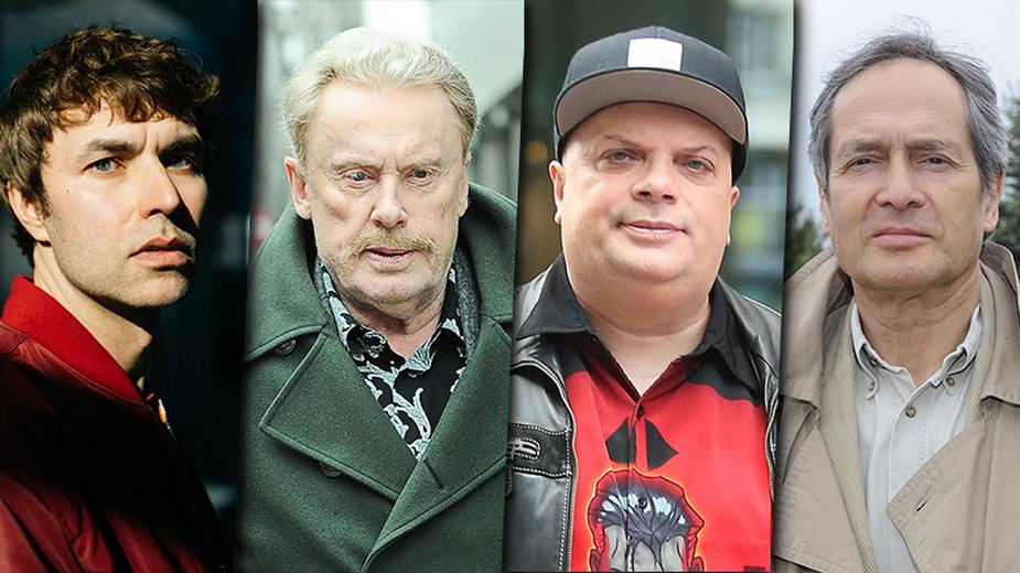 Karol Radziszewski (materiały prasowe), Daniel Olbrychski, Krzysztof Skiba i Jerzy Zelnik