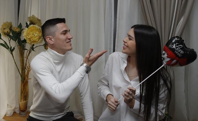 Strahinja Urošević sa devojkom Ivom