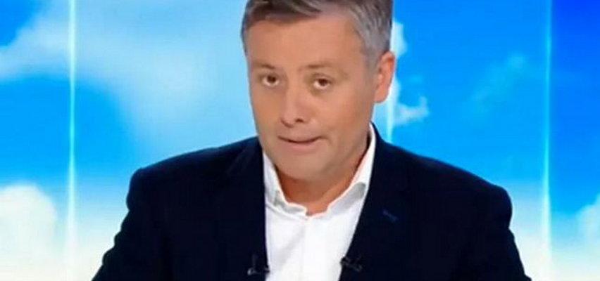 Ależ wpadka dziennikarza Polsatu! Nie wiedział, że jest już na wizji